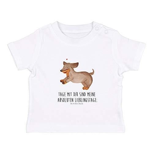 Mr. & Mrs. Panda , 12-18 Monate Baby T-Shirt Frohe Ostern mit Spruch - Farbe Weiß