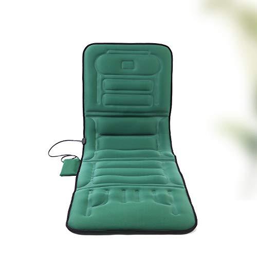 Massage-Matte, Ganzkörper-Beheizte Massage-Matratze, Verstellbare Tiefe Gewebeknetwalzen, Mit Vibrationsfunktion,Blue