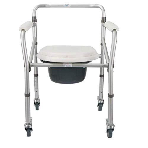 Bathroom Wheelchairs RRH Bedside Commodes Wheelchair Toilet Aluminum Alloy Old Man Toilet Foldable Height Adjustable Bathroom Toilet armrest Lifting aid, Pulley
