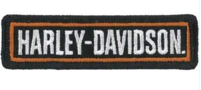 MAREL Patch Harley Davidson Toppa termoadesiva Ricamo cm 9 x 2,5 Replica 1302