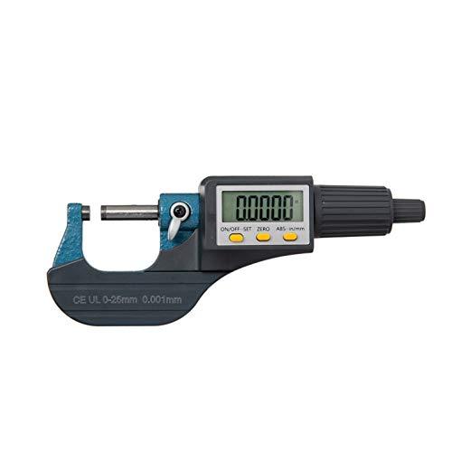 Beslandsデジタルマイクロメーター 厚み測定器 0~25mm 電子マイクロゲージ マイクロメーター 0.001mm LCDディスプレイ 日本語取説付き