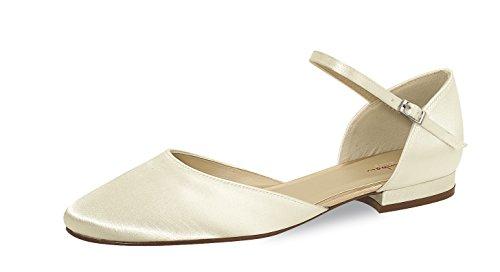 Elsa Coloured Shoes Brautschuhe Cameron (Rainbow Club) (43, Ivory)