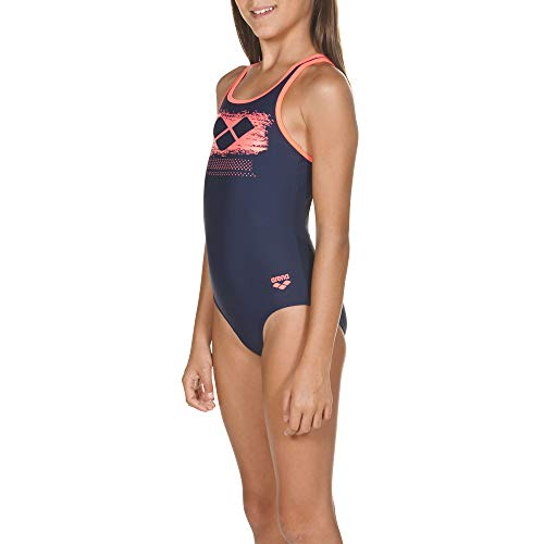 ARENA ARES5 Mädchen Sport Badeanzug Scratchy Navy-Shiny pink 164