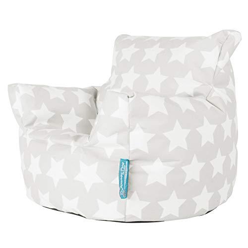 Lounge Pug®, Fauteuil Enfant, Pouf Enfant, Imprimé Gris étoile