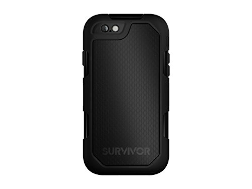 Griffin Survivor Summit, Custodia Cover per iPhone 6/6s Plus, Nero