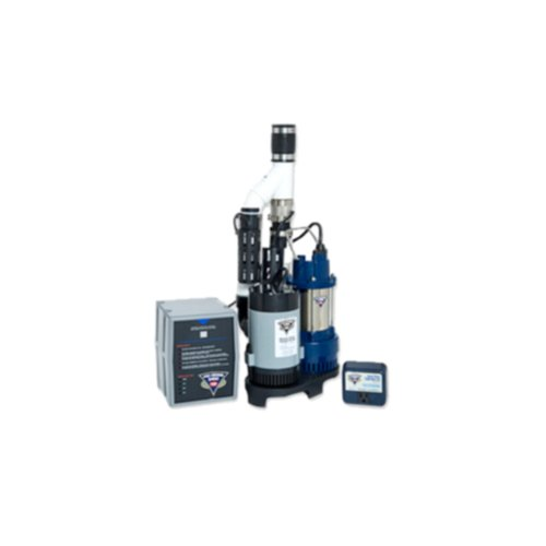 Glentronics, Inc. PS-C33 PHCC 3000 Gallons Per Hour Pro Series 1/3 HP Combination Sump Pump System