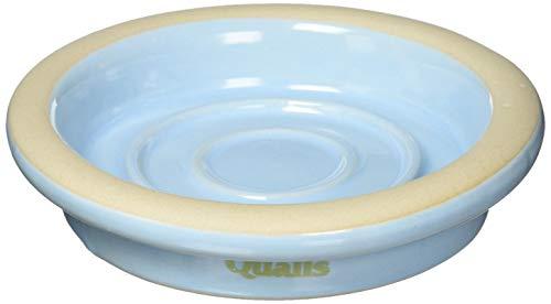 クオリス ポッタリー 衛生的な陶器の食器 多用型 ブルー
