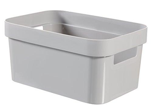 CURVER Infinity Box 4,5L Aufbewahrungsbox, Plastik, grau, 26 x 17.5 x 12.3 cm