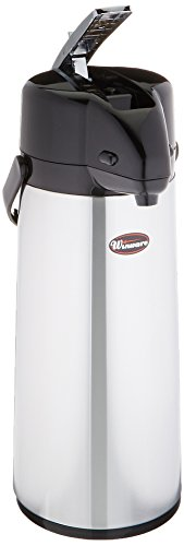 Winco Glass Lined Airpot, 2.5-Liter, Lever Top