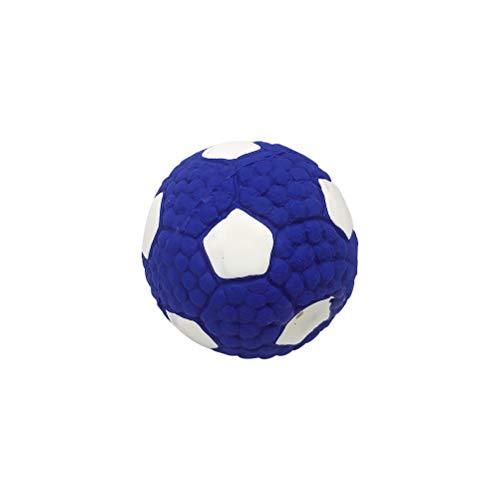 Urisgo Interactieve bal van latex voor honden, speelgoed voor honden, bal, zacht, piepscher, interactief speelgoed voor honden, kauwspeelgoed voor tanden, reinigingsbal om te kauwen