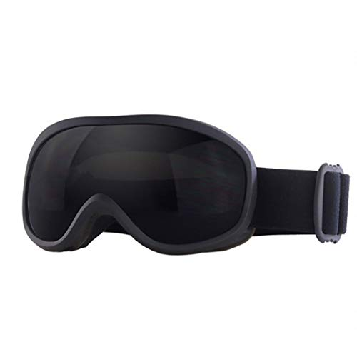 Double-Layer-Objektiv Grau Winter-Skibrille Anti-Fog Brillen Snowboardbrillen UV-Schutz Anti-Fog Snow Goggles für Männer Frauen Schwarz Outdoor-Produkt