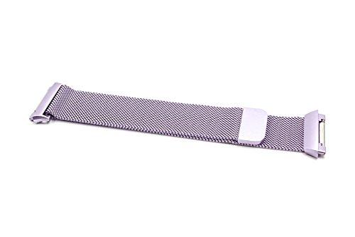 vhbw Correa de Repuesto 23,5cm, Cierre magnético, Compatible con Fitbit Ionic Fitness Reloj, smartwatch -Acero Inoxidable, Lila