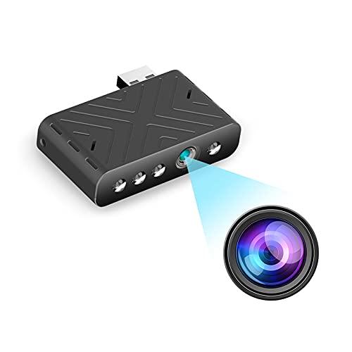 KOPOU TY9 Mini WIFI USB Videosorveglianza, Telecamere per la Sicurezza Domestica 2021, Telecamere di Sicurezza Interna/Esterna Wireless WiFi,Telecamera IP HD Visione Notturna