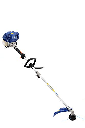 Wild Badger Power WBP31BCF 31 cc Gas 4-Cycle 2-in-1 Straight Shaft Trimmer with Brush Cutter, 17 inch, Blue