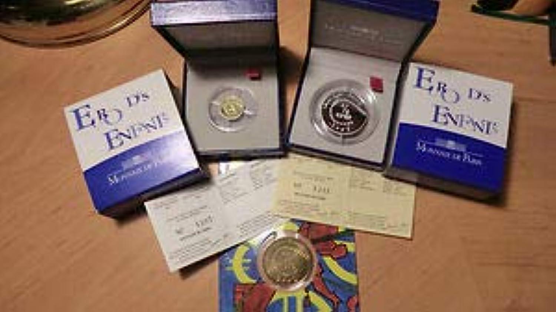 Monnaie de Paris 2002 Euro des Enfants Argent - Or - Nickel SéRIE des 3 Coffrets