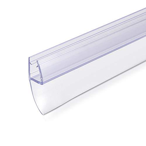 Navaris Schwallschutz Duschdichtung Duschkabine 180° - für 6mm dicke Glas Duschtür - Dichtung Glastür Dusche - Ersatzdichtung Glasdusche 100cm