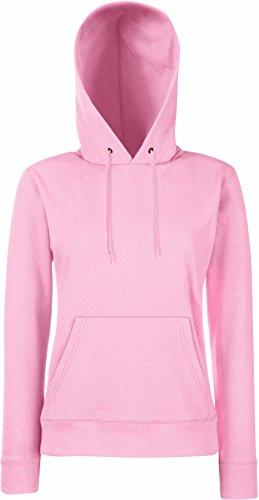 Damen Kapuzen Sweatshirt Hoodie Pullover Shirt verschiedene Größe und Farben - Shirtarena Bündel S,Rose