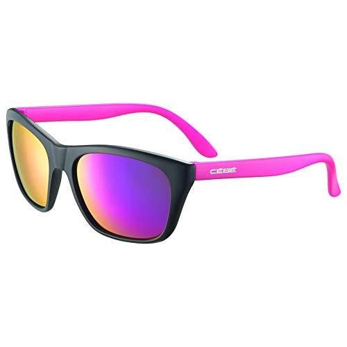 Cébé Cooper Gafas de Sol Juventud Unisex Matt Black Pink 10 < 12