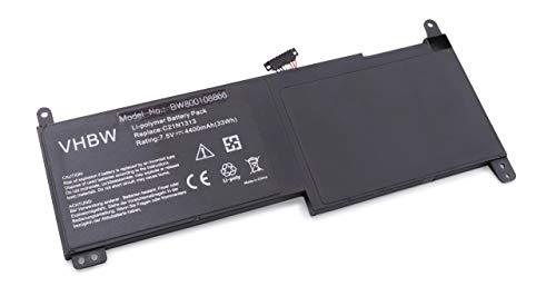 vhbw Li-Polymer batería 4400mAh (7.5V) para Notebook ASUS Transformer Book Trio TX201,...