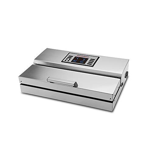 Gastroback 46016 Advanced Professional Pompe à vide à vide avec 10 sacs à vide en acier inoxydable 18/8 Argenté 20 l/min, 0,9 bar