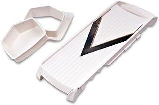 Fackelmann 49245 Mandoline réglable Arcadalina 36x11,8x3,8cm 2 pièces, Plastique, Blanc/Noir, 36 x 11,8 x 3,8 cm