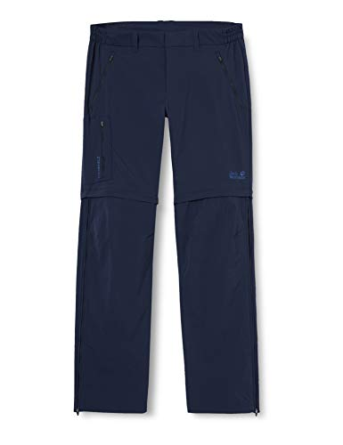 Jack Wolfskin Overland Zip Away Pantalon, Uomo, Blu Notte, FR : L...