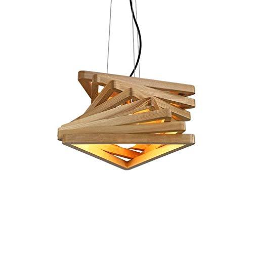 Lámparas de araña, Torsión escalera de madera Pantalla colgante del accesorio ligero...