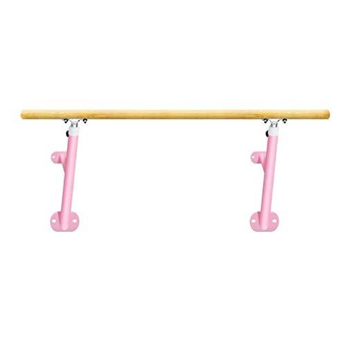 M-YN Barra de Ballet Barra de Deportes for el hogar o Estudio Profesional de Pared Dance Bar de Estiramiento Danza Pilates o de Practicar Ejercicio (Color : Pink, Size : 1.5M)