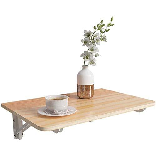 Mesa de hojas abatibles montada en la pared, mesa de comedor de cocina plegable, escritorio,Mesa De Cocina Plegable, mesa de oficina en casa, Mesa abatible montada, negro-60 * 30cm, Wood, 80*30cm