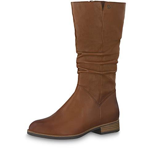 Tamaris Damen Stiefeletten 25345-23, Frauen Stiefel, leger Boots lederstiefel reißverschluss Damen Frauen weibliche Lady Ladies,Muscat,38 EU / 5 UK