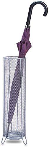 YAeele Paragüero Hierro Pantalla de Inicio Sencillo Barril de Almacenamiento en Rack Marco Colgante Creativo de Habitaciones Cubo (Blanco) 14 * 53cm Puesto de Paraguas