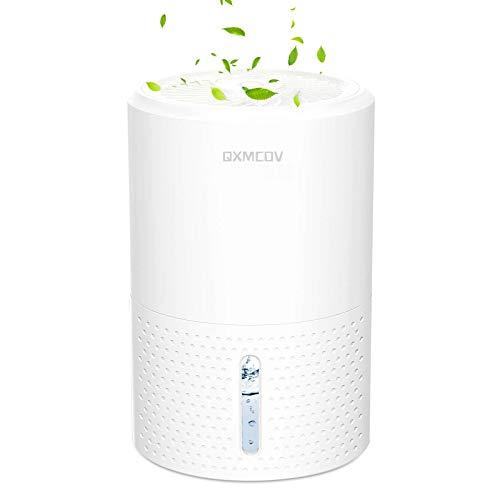 Qxmcov Deshumidificador Eléctrico portátil, 900ml Mini silencioso Deshumidificadores de Aire, Silencioso, Compacto,Bajo Consumo de Energía, Ideal para Cocina, Dormitorio, Oficina, Caravanas, Garajes