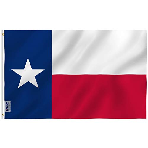 Anley Fly Breeze 3x5 Foot Texas State Flag - Vivid Color and Fade Proof - Canvas Header and Double Stitched - Texas State Flags Polyester with Brass Grommets 3 X 5 Ft