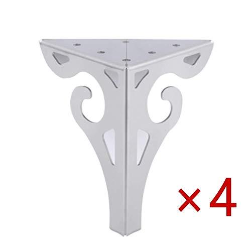 Füße for Möbel, 4 Beine for Möbelelemente Teile do-it-yourself-Küchentheke Einheit Frühstück Bar Schreibtisch Tischbeine Dreieck robuste Beine for Möbel Arbeitsplatte, Größe 6 (Size : 25cm)