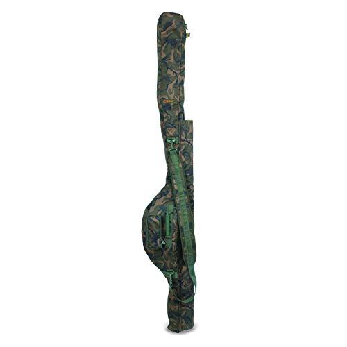 Fox Camolite Tri Sleeve 10ft Rutentasche für 3 Karpfenruten 10ft, Rutenfuttural für 2 Teilige Steckruten, Tasche für Angelruten Zum Karpfenangeln, Tarnfarbe