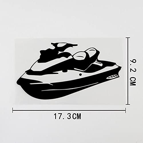 GSPOGTY Pegatinas de Coche de 3 Piezas, Pegatinas de álbum de Recortes Autoadhesivas para Scooter de Agua de esquí de 17,3 CM X 9,2 CM para Ordenador portátil, Motocicleta, Bicicleta