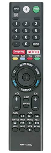 New Replace Bluetooth Remote RMF-TX300U Sub RMF-TX200U RMF-TX201U Voice Control fit for Sony Smart 4K TV 149331811 XBR-55X850S XBR-55X930D XBR-65X850D XBR-65X930D XBR-75X850D XBR-75X940D XBR-85X850D