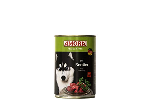 Amora Fleisch Pur Sorte Rentier 12 x 800g Hundefutter Nass