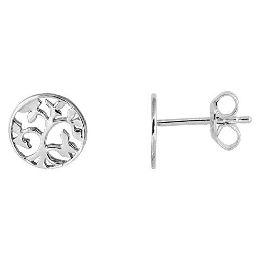 XENOX Ohrringe XS2910 Damen Ohrstecker Lebensbaum Symbolic Power Sterling-Silber 925 Silber