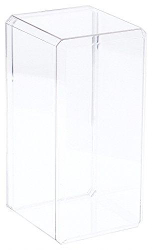 Pioneer Plastics Clear Acrylic Beveled Edge Display Case, 4.375' x 4.125' x 9' (for 8 inch Dolls)