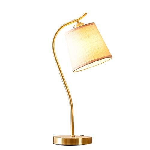 lámparas de mesa Todo cobre lámpara de escritorio lámpara de cabecera del dormitorio moderno minimalista hogar creativo Plug-in Mesilla de noche de la lámpara de la lámpara de Aprendizaje lámparas de