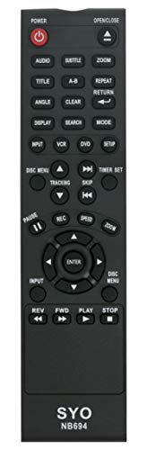 New NB694 NB694UH Replaced Remote fit for Sanyo DVD Player VCR FWDV225F