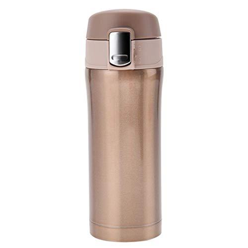 Crisis Botella de Agua de Acero Inoxidable con Aislamiento de Larga duración, Termo, café, té, 350 ml, Oficina al Aire Libre para Viajes a casa(Golden)