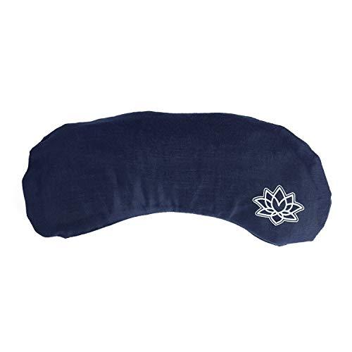 Bodhi Weiches Augenkissen mit Lavendel-Leinsamen-Füllung, für Yoga, Entspannung & Meditation (dunkelblau, Lotus)