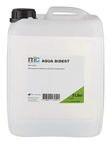 Aqua Bidest - Bidón de 5 litros de agua de laboratorio, filtrada...
