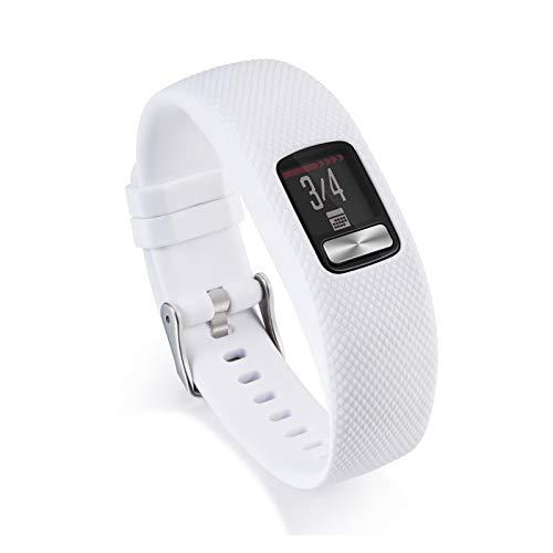 LXF JIAJU Soft Sillicone Strap De Pulsera para Garmin VIVOFIT 4 Actividad Banda De Reemplazo De Fitness para Garmin VIVOFIT4 SmartWatch (Color : White, Size : S)