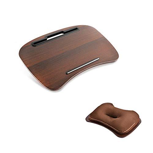 XQKXHZ Laptop Kussen, Draagbaar Platte Lapdesk Kniekussen Laptray Laptop Koffie Kniekussen voor Bed Sofa Couch Bus Bibliotheek, 48x34cm