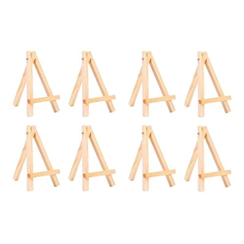 NUOBESTY - Soporte para trípode de madera, 8 unidades, soporte para fotografías, escritorio, calendario, manualidades, suministros de arte 15x8.5x1.6cm Imagen 1