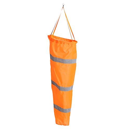 Noctilucent Flughafen Luftfahrt Wasserdichte Windsack Reflektierende Streifen Wind Mess Tasche Walfront(Orange Rot 150cm 2)