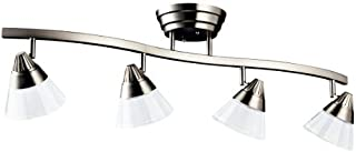 Kichler 10325NI Track Lighting Kit Dimmable LED Semi Flush Ceiling Lighting, Brushed Nickel 4-Light (7